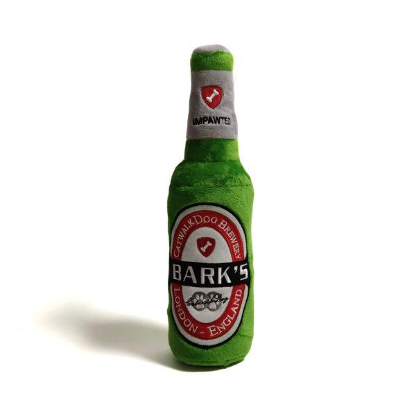 Bark's Beer Bottle Plush Dog Toy