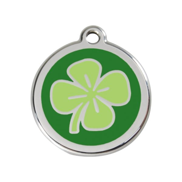 Stainless Steel & Enamel Clover Tag