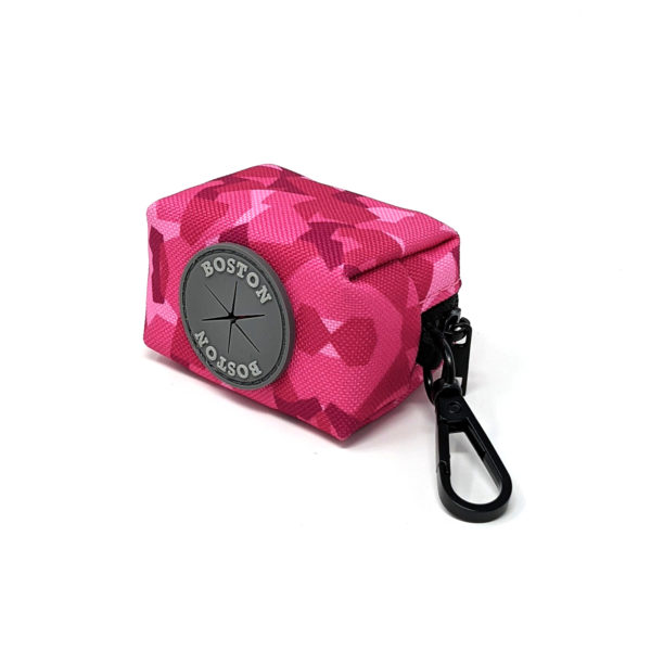 Boston Pink Camo Poo Bag Holder